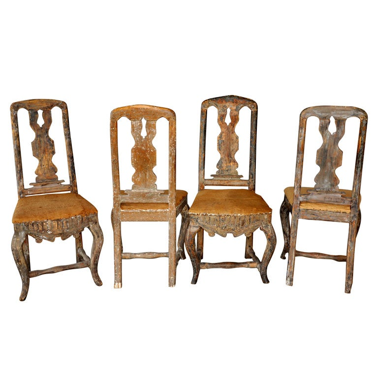 SET OF 4 18TH CENTURY ROCOCO DINING CHAIRS At 1stdibs