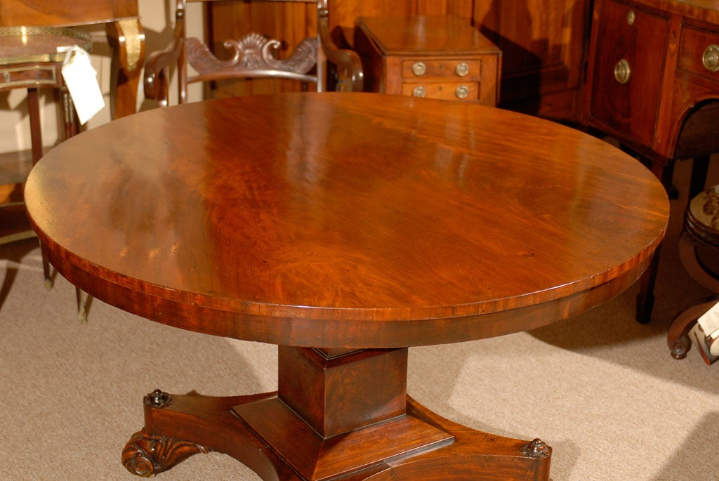 19th century english mahogany center table at 1stdibs for Table th center