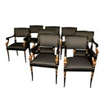 Set of 8 Regency-Style Dinning Chairs
