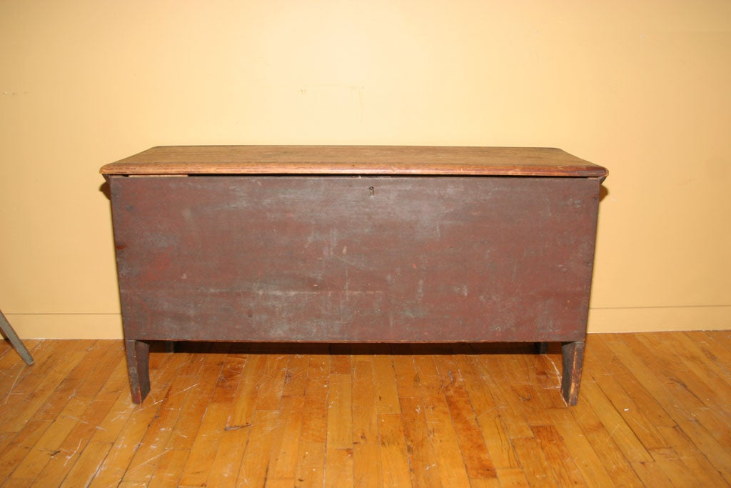 American Painted Blanket Chest For Sale