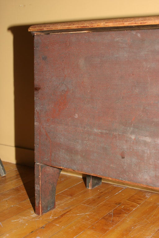 18th Century and Earlier Painted Blanket Chest For Sale