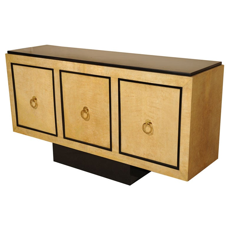 Ebonized Wood Furniture ~ Parchment and ebonized wood sideboard at stdibs