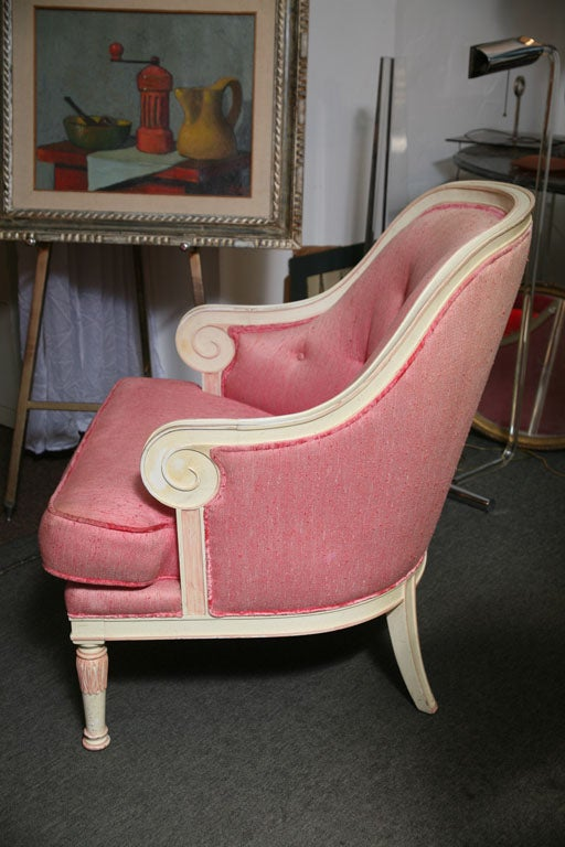 American Rose Beautiful 60's Armchair For Sale