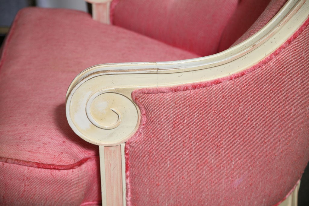 Mid-20th Century Rose Beautiful 60's Armchair For Sale