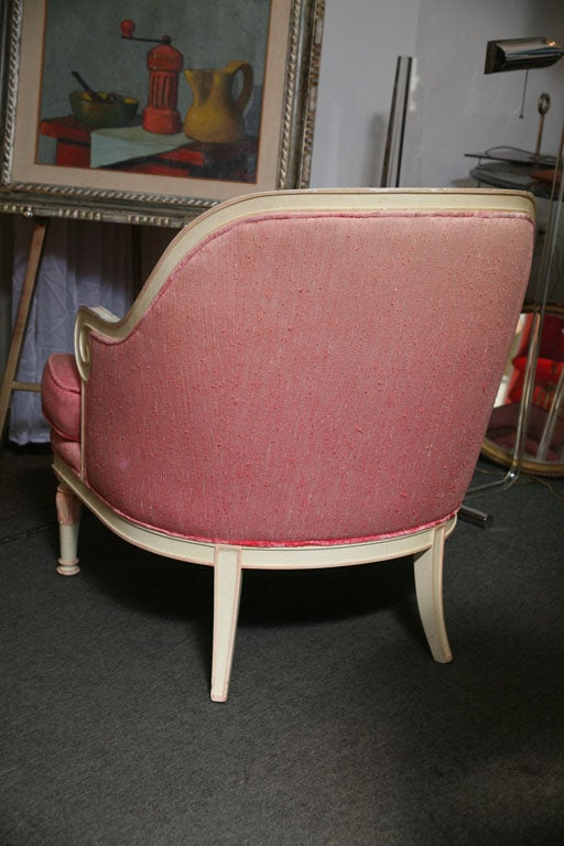 Rose Beautiful 60's Armchair For Sale 2