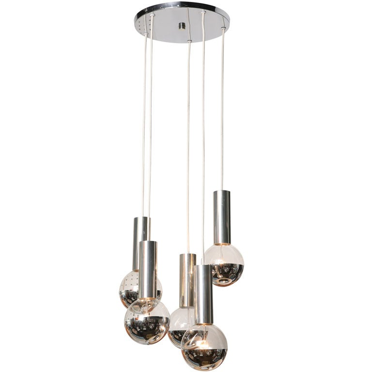 70s Waterfall Chandelier At 1stdibs