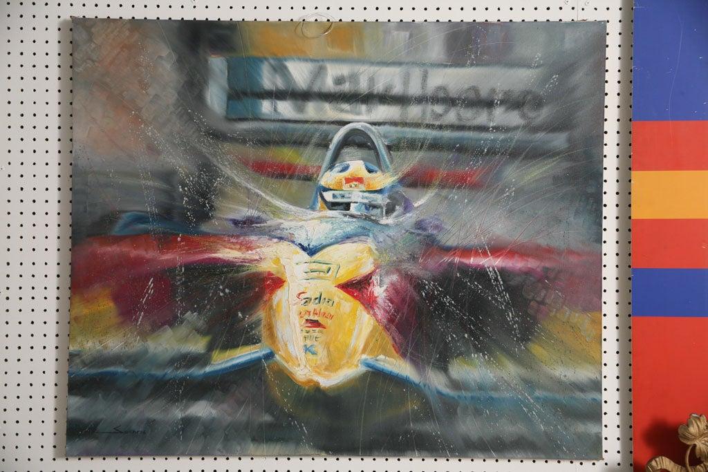 Brazilian Pair of Solaris Formula 1 Paintings For Sale