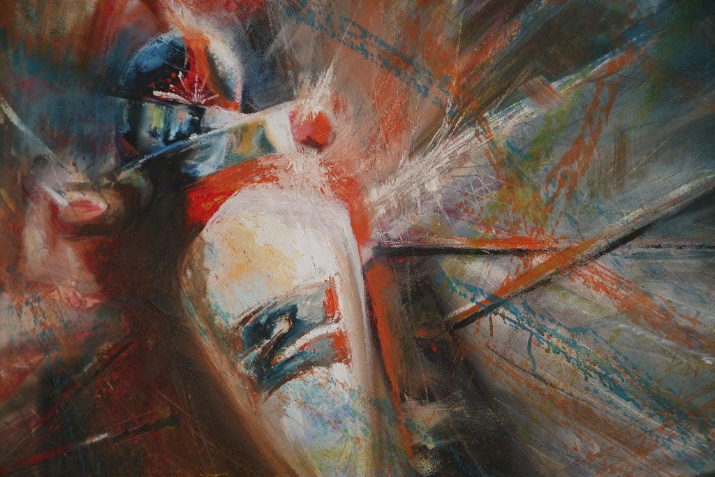 Pair of Solaris Formula 1 Paintings For Sale 2