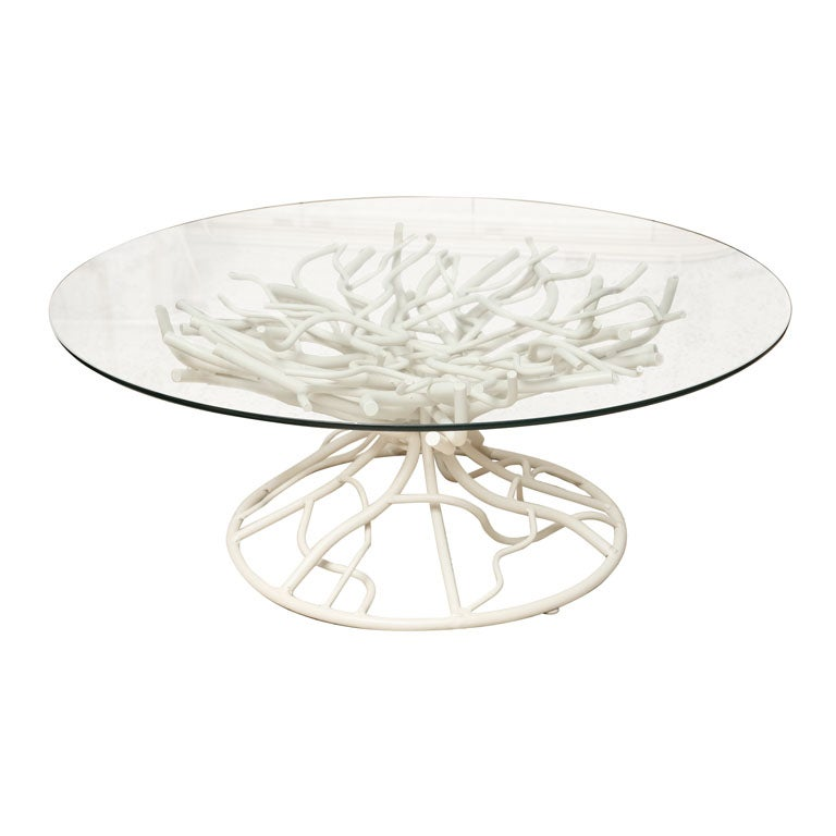 Perfect Faux Coral Branch Coffee Table 1