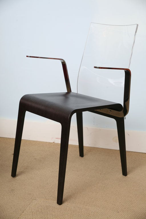 French roche bobois 6 sleek dining chairs image 7 - Roche bobois chaises ...