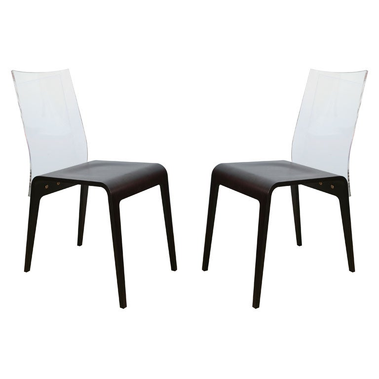French roche bobois 6 sleek dining chairs at 1stdibs for Sleek dining room furniture