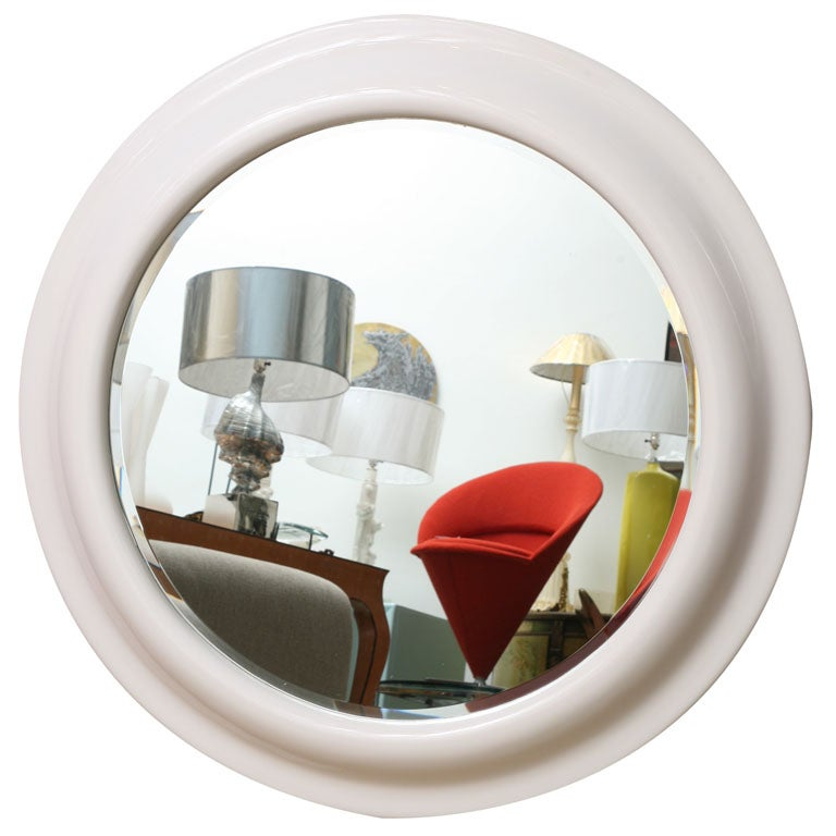 Large american classic round mirror thick frame at 1stdibs for American classic frames