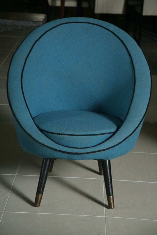 Italian Modern Chair by Ico Parisi In Excellent Condition For Sale In Miami, FL