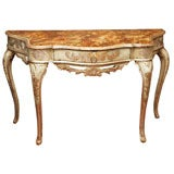 18TH CENTURY SILVERGILT AND PAINTED CONSOLE TABLE