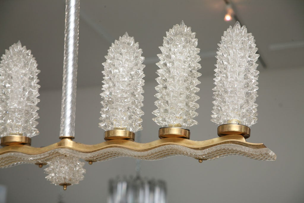 Italian Vintage Murano Glass Light Fixture by Barovier For Sale