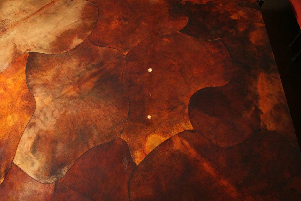 Massive Goat Skin & Steel Coffee Table image 10