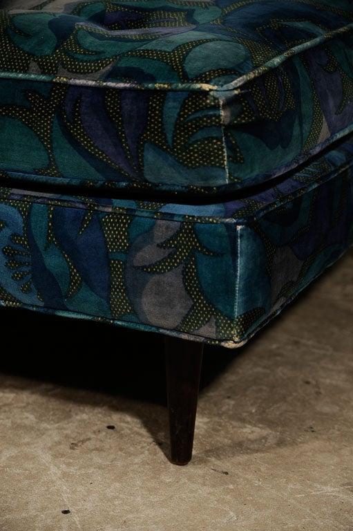 Harvey Probbe Ottoman in Original Jack Lenor Larsen Fabric 2