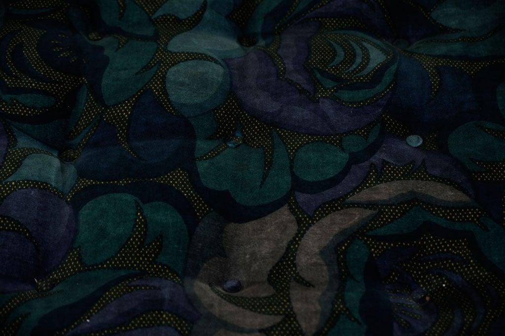 Harvey Probbe Ottoman in Original Jack Lenor Larsen Fabric 4