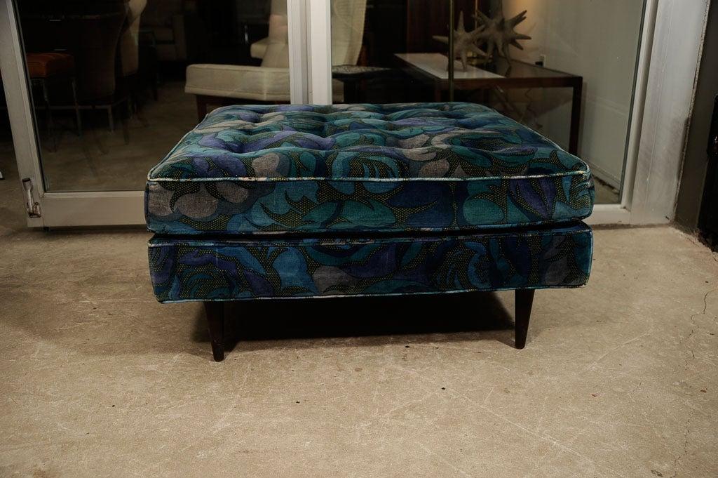 Harvey Probbe Ottoman in Original Jack Lenor Larsen Fabric 5