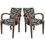 Pair of French Art Deco Arm Chairs