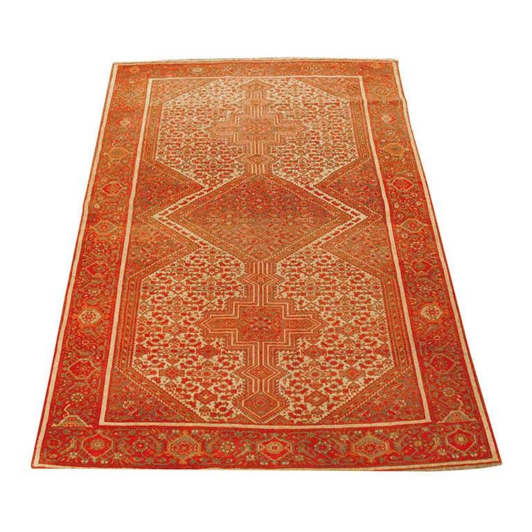 Antique Persian Mallayer Rug