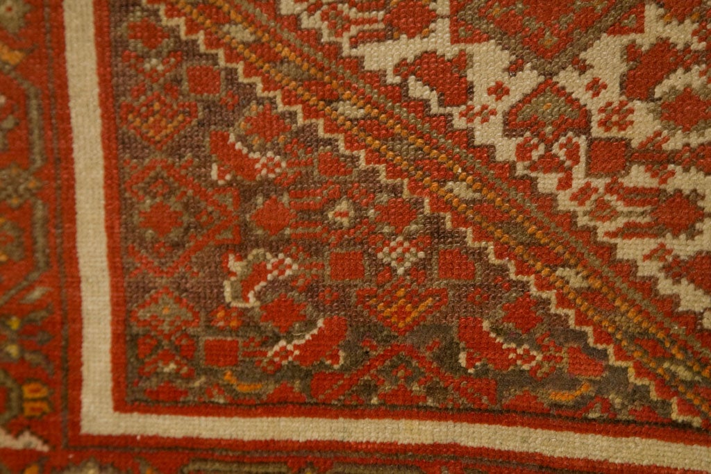 Antique Persian Mallayer Rug  8
