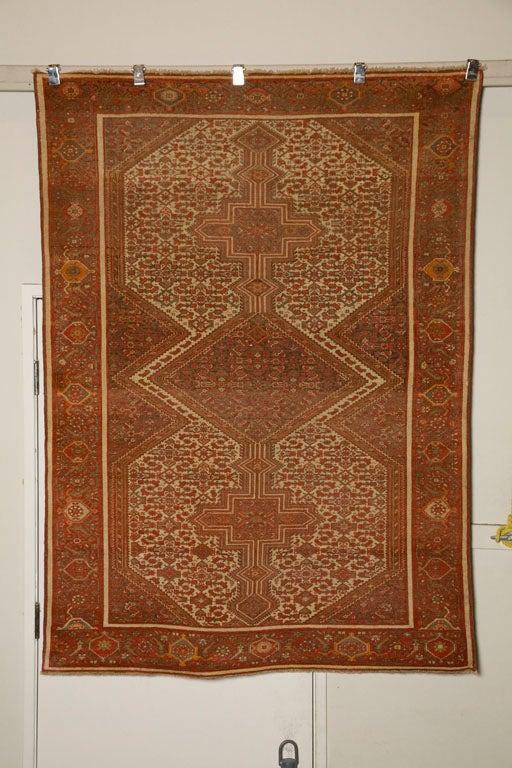 Antique Persian Mallayer Rug  10