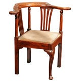 Georgian Fruitwood Corner Chair with drop seat