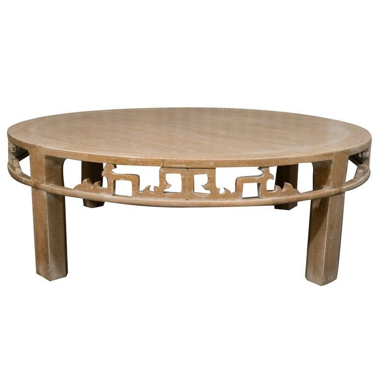 baker far east seruse oak coffee table at 1stdibs