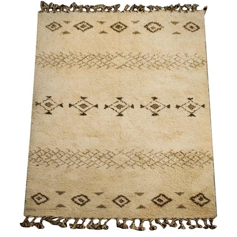 Vintage Moroccan Wool Rug At 1stdibs