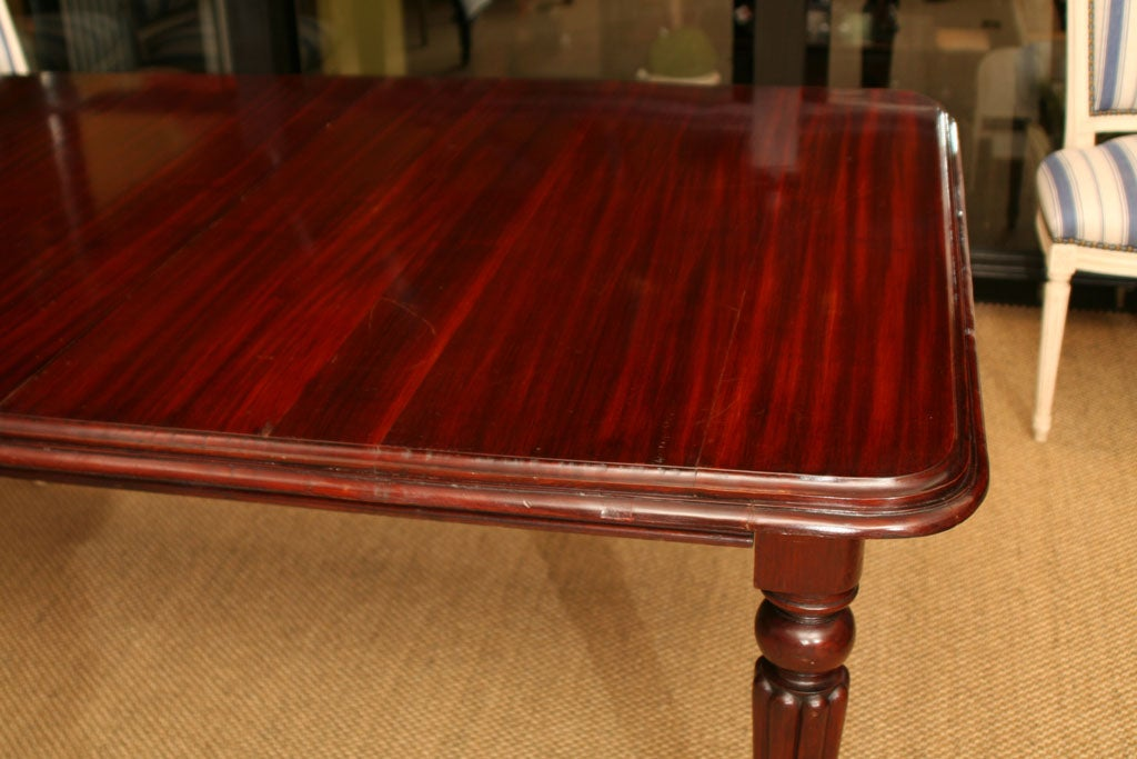 English William IV Mahogany Extending Dining Table For Sale