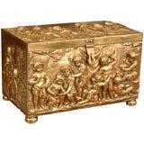 19th bronze dore large table box