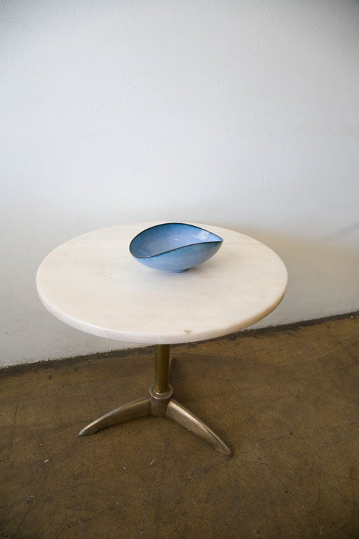 Modern Otto Natzler Ceramic/Pottery Bowl Signed/ Paper Date Inventory For Sale