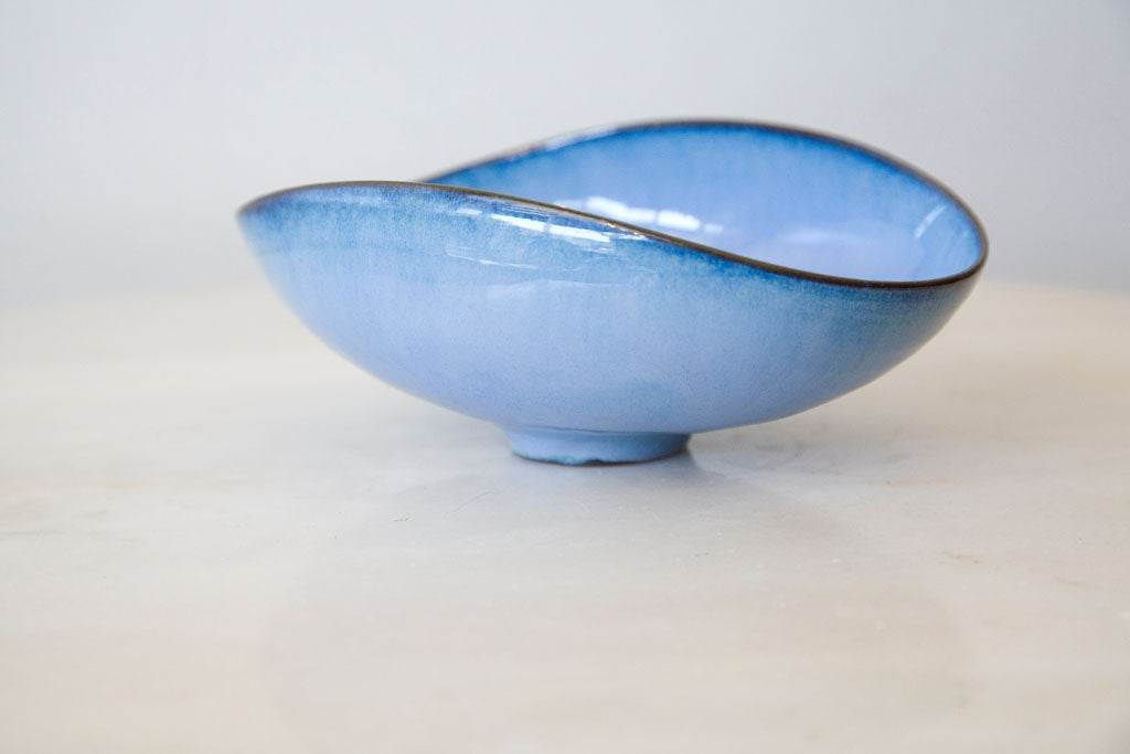 Mid-20th Century Otto Natzler Ceramic/Pottery Bowl Signed/ Paper Date Inventory For Sale