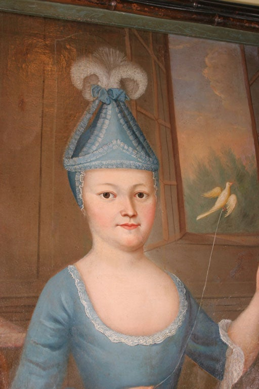 Young Girl With A Bird French Circa 1774 At 1stdibs