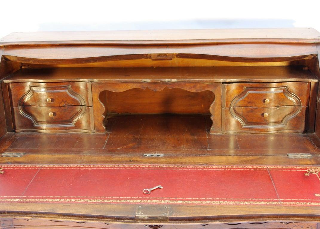 18th Century Regency Provincial Walnut Secretary Desk At