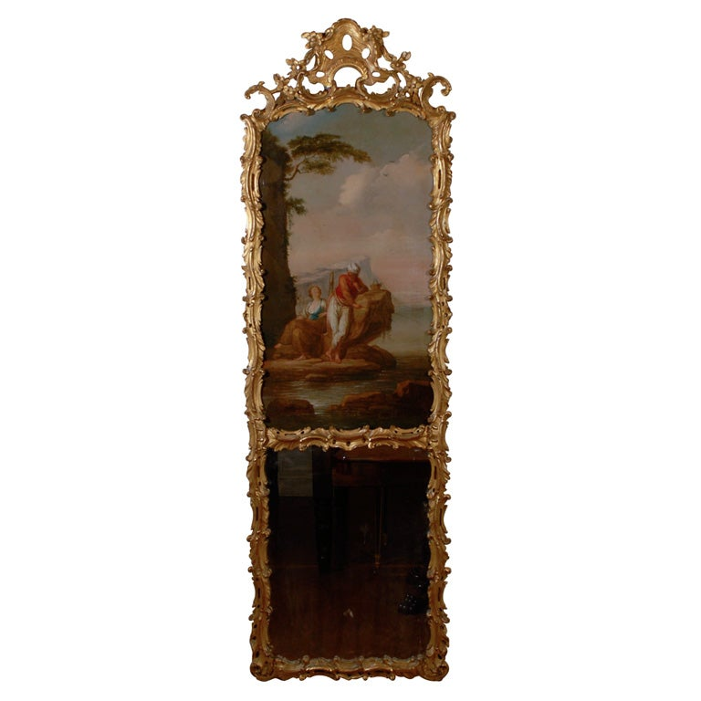 The 18th Century Trumeau Gilt Wood Mirror At 1stdibs