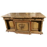 MARBLE TOPPED  SIDE CABINET