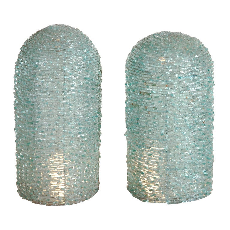 Recycled glass lights at 1stdibs