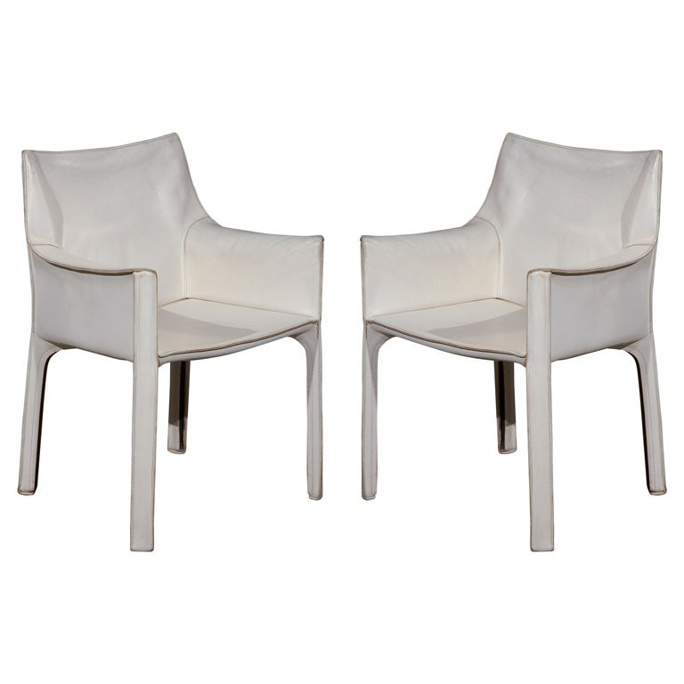 Mario Bellini Cassina Set Of 4 Cab Chairs At 1stdibs