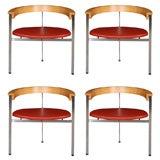 Set of 4 Poul Kjaerholm PK11 Arm Chairs by Eko Christensen