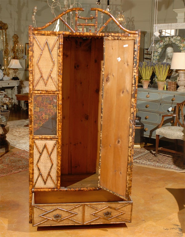english bamboo armoire at 1stdibs. Black Bedroom Furniture Sets. Home Design Ideas