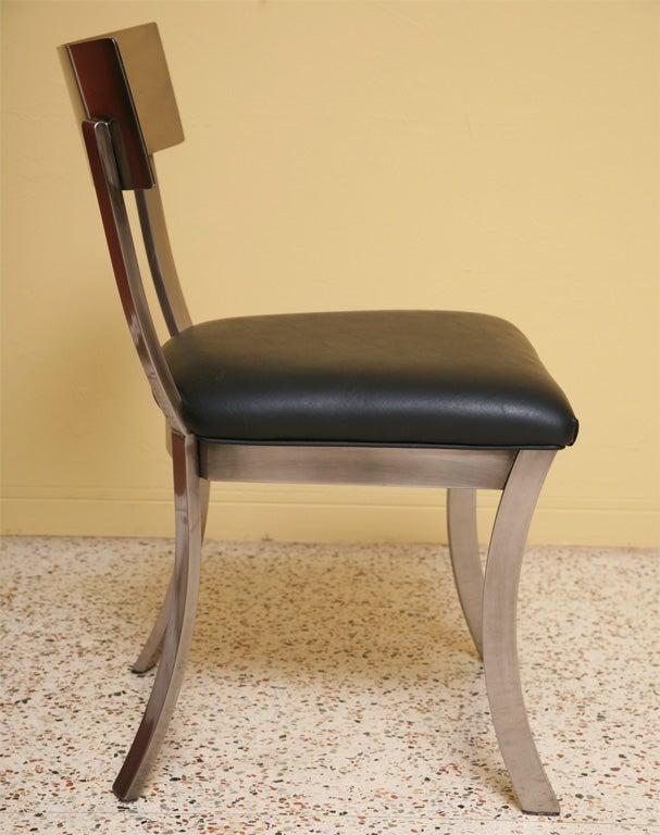 Sleek Steel Klismos Chairs Design Institute Of America At