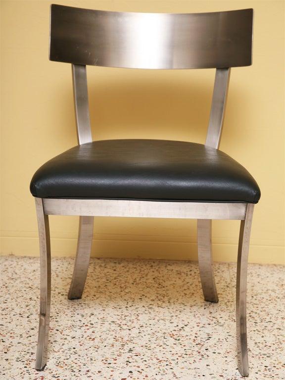 Sleek Steel Klismos Chairs Design Institute of America at  : IMG5622 2 from 1stdibs.com size 576 x 768 jpeg 71kB