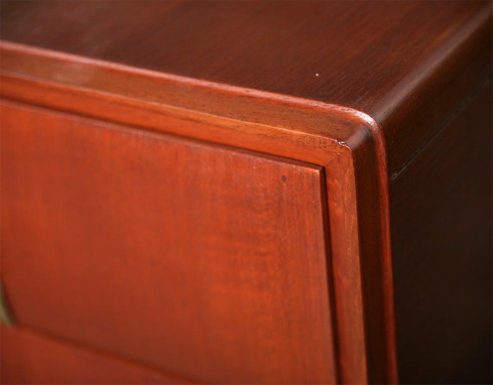 Pair of Italian Modern Mahogany, Brass and Iron Sideboards, Silvio Cavatorta For Sale 5