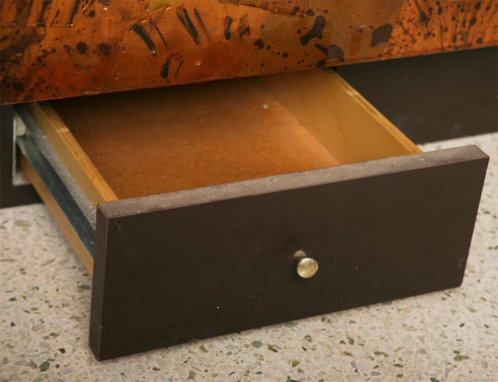 A Rare Silas Seandel Metal Clad Backgammon Low Coffee