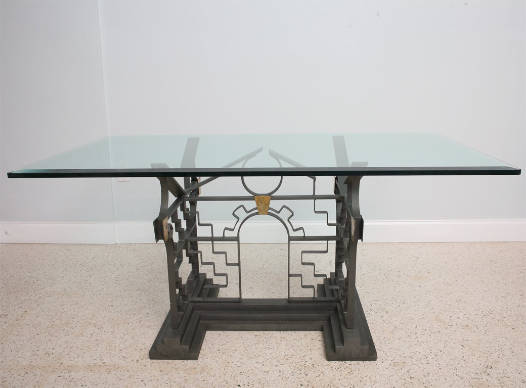 Michael taylor cyprus tree trunk dining table at 1stdibs - A Michael Graves Broken Pediment Table Manufactured By Sunar 2