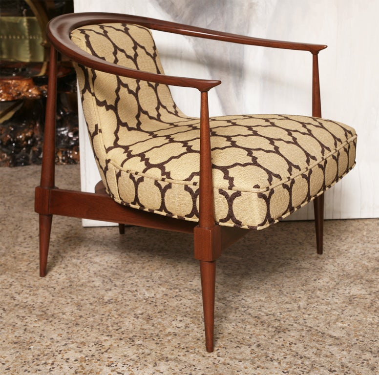 American Pair of 60's Horseshoe Club Chairs