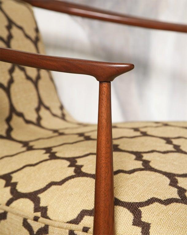 Wood Pair of 60's Horseshoe Club Chairs