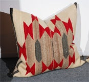 LARGE AUTHENTIC NAVAJO INDIAN WEAVING PILLOWS/CIRCA1920'S image 2